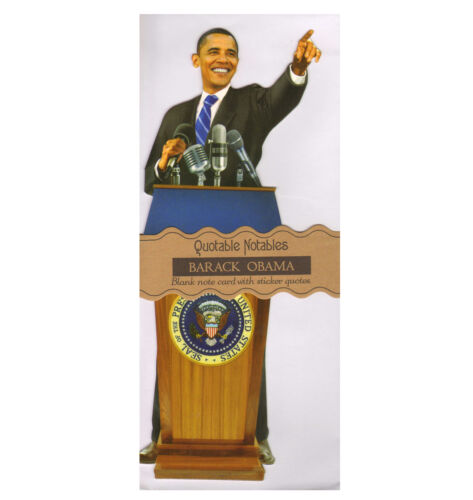 Barack Obama Quotable Notable Greeting Card With Sticker Quotes