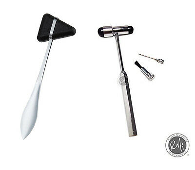 2 Piece Set Neurological Buck & Taylor Medical Reflex Hammers - Black US Seller