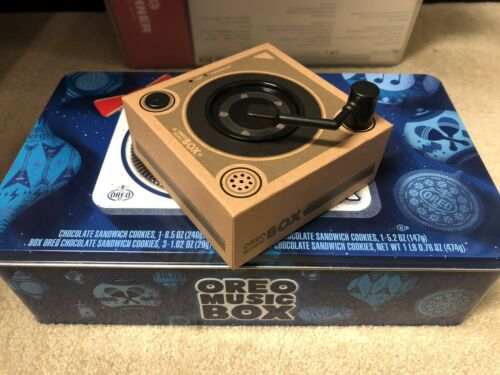 Oreo Music Box Cookie Record Player Collectible Holiday Gift Tin Limited