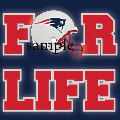NEW ENGLAND PATRIOTS FOR LIFE #1 REFRIGERATOR FAN MAGNET ...