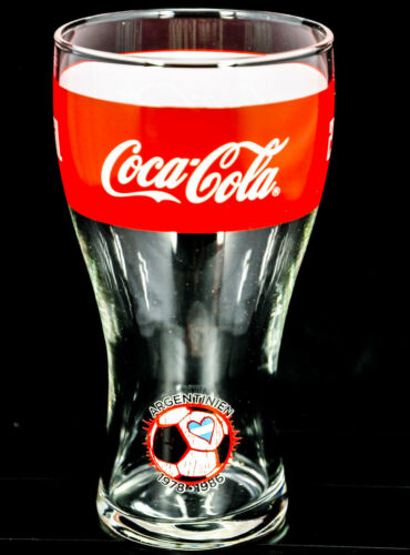"""Nr.4 /""""Argentinien/"""" 0,2l Coca Cola Glas Gläser WM 2014 Brasilien Sammelglas"""