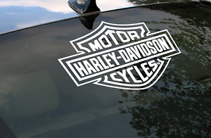 Harley Davidson Logo Cutz Rear Window Decal Motorcycle Truck Car - Stickers for motorcycles harley davidsons
