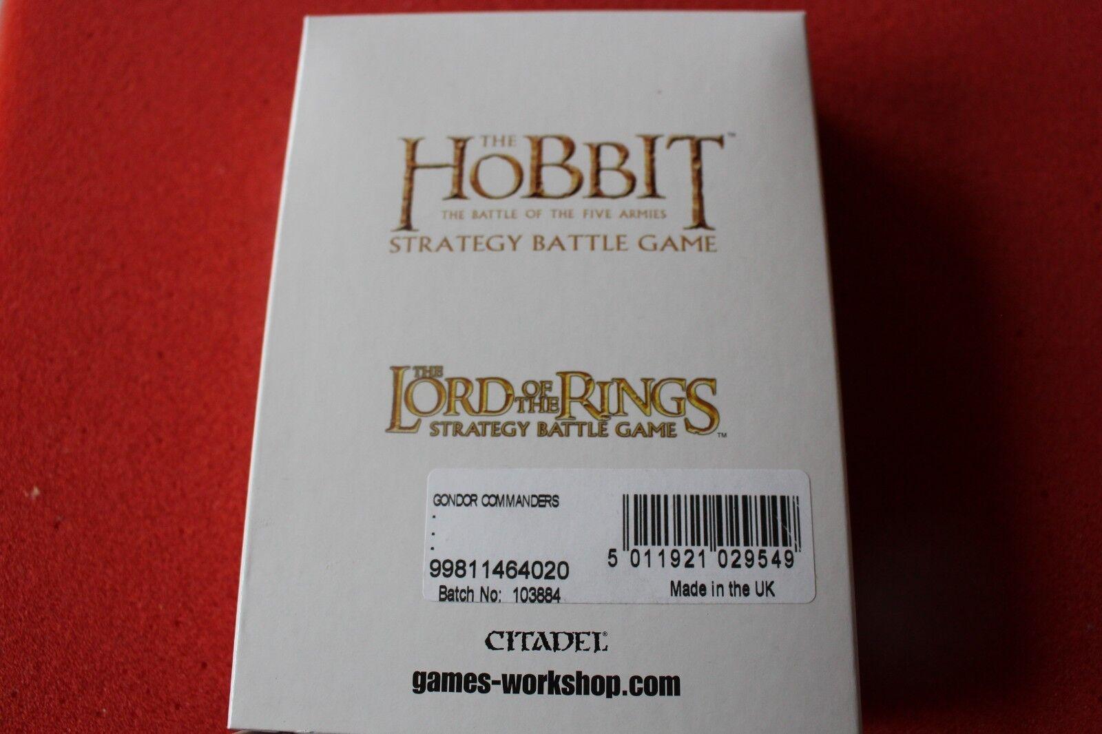 Games Workshop LoTR Gondor Commanders Lord of the Rings New NIB Minas Tirith GW