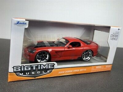 Jada BigTime Muscle 2008 Dodge Viper SRT10 Red 1//24 Diecast Model 96805