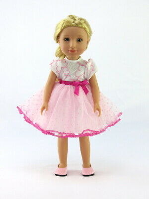 """Pink Slip On Dress Shoes Fits Wellie Wishers 14.5/"""" American Girl Clothes Shoes"""