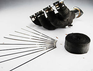 BLACK-HEAT-WRAP-EXHAUST-MANIFOLD-10M-WITH-10-CABLE-TIES-30cm