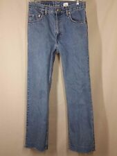 Vintage Raw Hem Levis 505 Distressed Mom Jeans  Measures 29 x 28 High Waist  #37