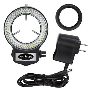 AmScope-144-LED-Adjustable-Compact-Microscope-Ring-Light-Adapter-Black-Finish