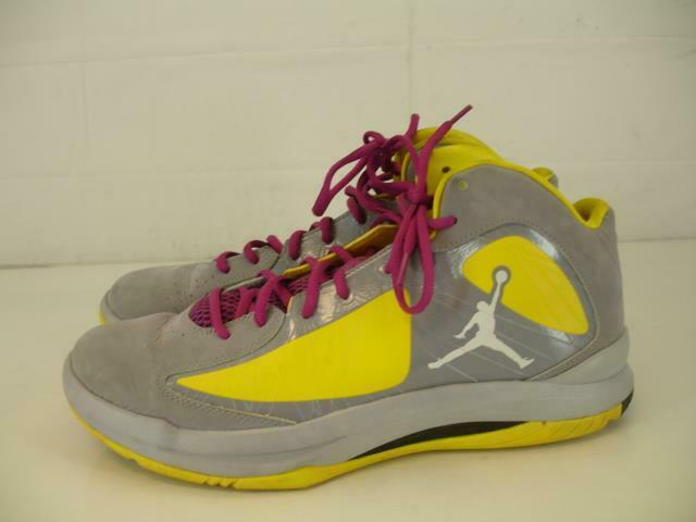 Mens sz 13 47 Nike Air Jordan Aero Flight Stealth Grey Yellow Basketball shoes