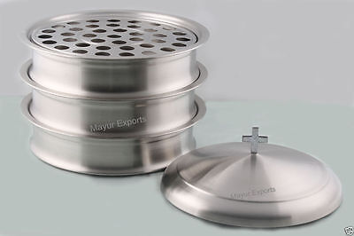 Stainless Steel Stacking Communion Tray set with lid - Holy communion Brand New