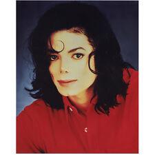 Michael Jackson King of Pop Head Shot Wearing Red 8 x 10 Inch Photo