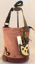 Chala Purse Handbag Canvas Crossbody with Key Chain Tote Bag Hoot Owl
