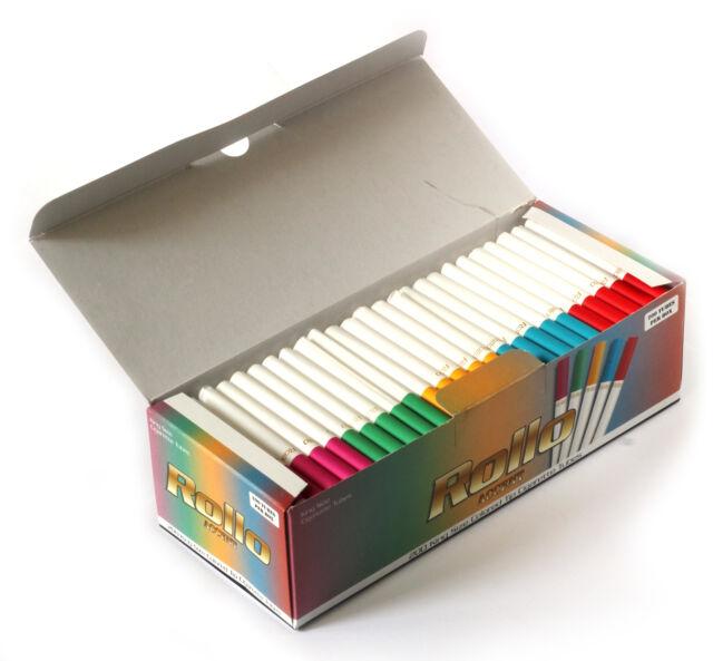 ROLLO ACCENT - Cigarette tubes with multi coloured filters - 200 tubes per box