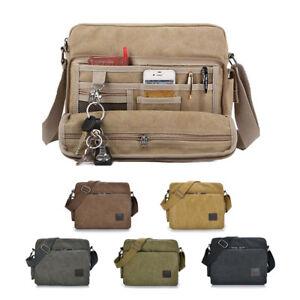 Image Is Loading Men 039 S Vintage Canvas Messenger Shoulder Bag