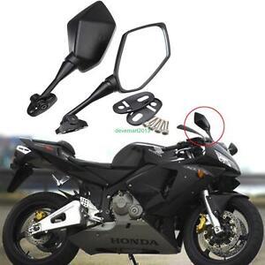 2x-11-8-039-039-Noir-Reglable-Retroviseurs-Guidon-Embout-Moto-Bar-End-Mirror-pour-Honda