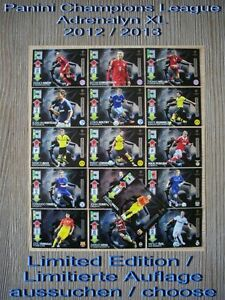 Panini-Champions-League-Adrenalyn-XL-2012-2013-Limited-Edition-escoger-choose