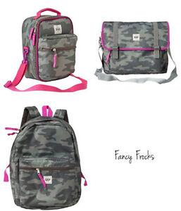 Image Is Loading Gap Kids S Camo Sr Backpack Messenger Bag