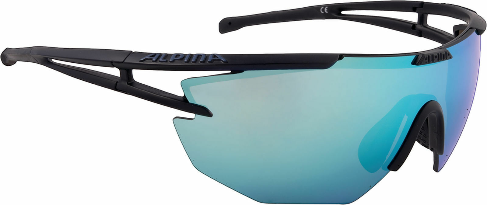 Alpina Sportbrille ALPINA EYE-5 Shield Ceramic mirror black