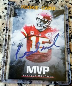 Patrick Mahomes Ii 2018 Mvp Auto Edition Rookie Card Rc Kansas City