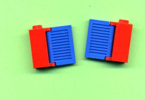 Blau Lego-- 3581 Rot 2 Stück Mit Fensterladen Scharnier Zarge