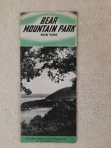 BEAR MOUNTAIN PARK New York PALISADES INTERSTATE vintage 1940s BROCHURE toursim