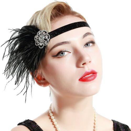 Roaring 20/'s Sequined Showgirl 1920s Flapper Headband Gatsby Headpiece