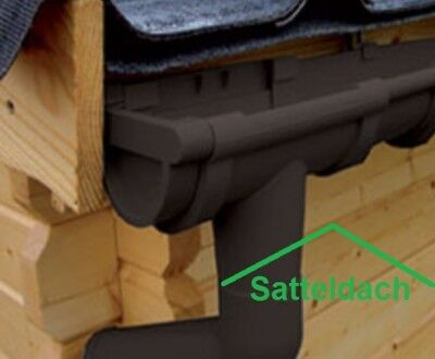 Heimwerker Fürs Dach Halbrund-dachrinnen-set 4,50m Satteldach-gartenhaus Anthrazit Weiß Braun Rinne