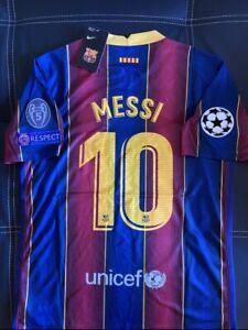 FC Barcelona 2020/21 Jersey Lionel Messi #10 UEFA ...