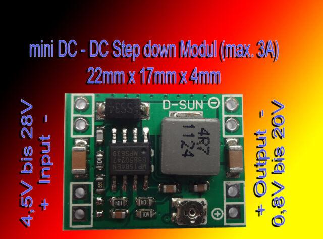 mini DC-DC Spannungsregler Step down Spannungs Modul Spannungswandler BEC LM2596