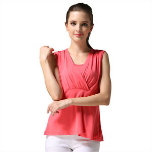 3c154dafd4b Details about Summer Maternity Clothes For Pregnant Women Breastfeeding  Vest Nursing Tops Tank