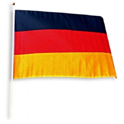 36x Deutschland-Fahne Deutschlandfahne Deutsche Flagge Flag am Stab 45 x 30 cm