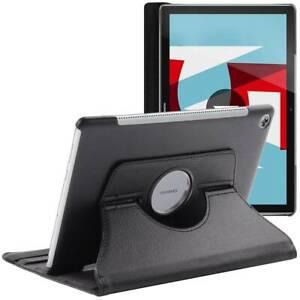 Détails sur Coque Tablette Huawei MediaPad M5 10.8 Housse Etui Rotatif 360 PU Cuir, Noir