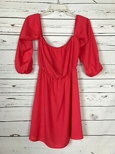 Boutique-Entro-Women-039-s-M-Medium-Coral-Cute-Party-Summer-Fall-Tunic-Top-Blouse