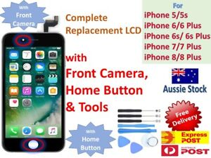 on sale cd47f c3bca Details about iPhone 5s 5 5c 6 6s Plus LCD Screen Replacement Display WITH  CAMERA HOME BUTTON