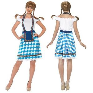4ff5b167153 Details about Oktoberfest Wench Ladies Fancy Dress German Bavarian Beer  Girl Womens Costume