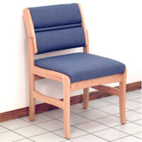Wooden Mallet Valley Armless Guest Chair-light Oak- Dw4-1lopb Chair