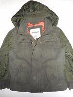 Abercrombie Boys Kids Army Green Heavy Winter Hooded Jacket Size 5/6