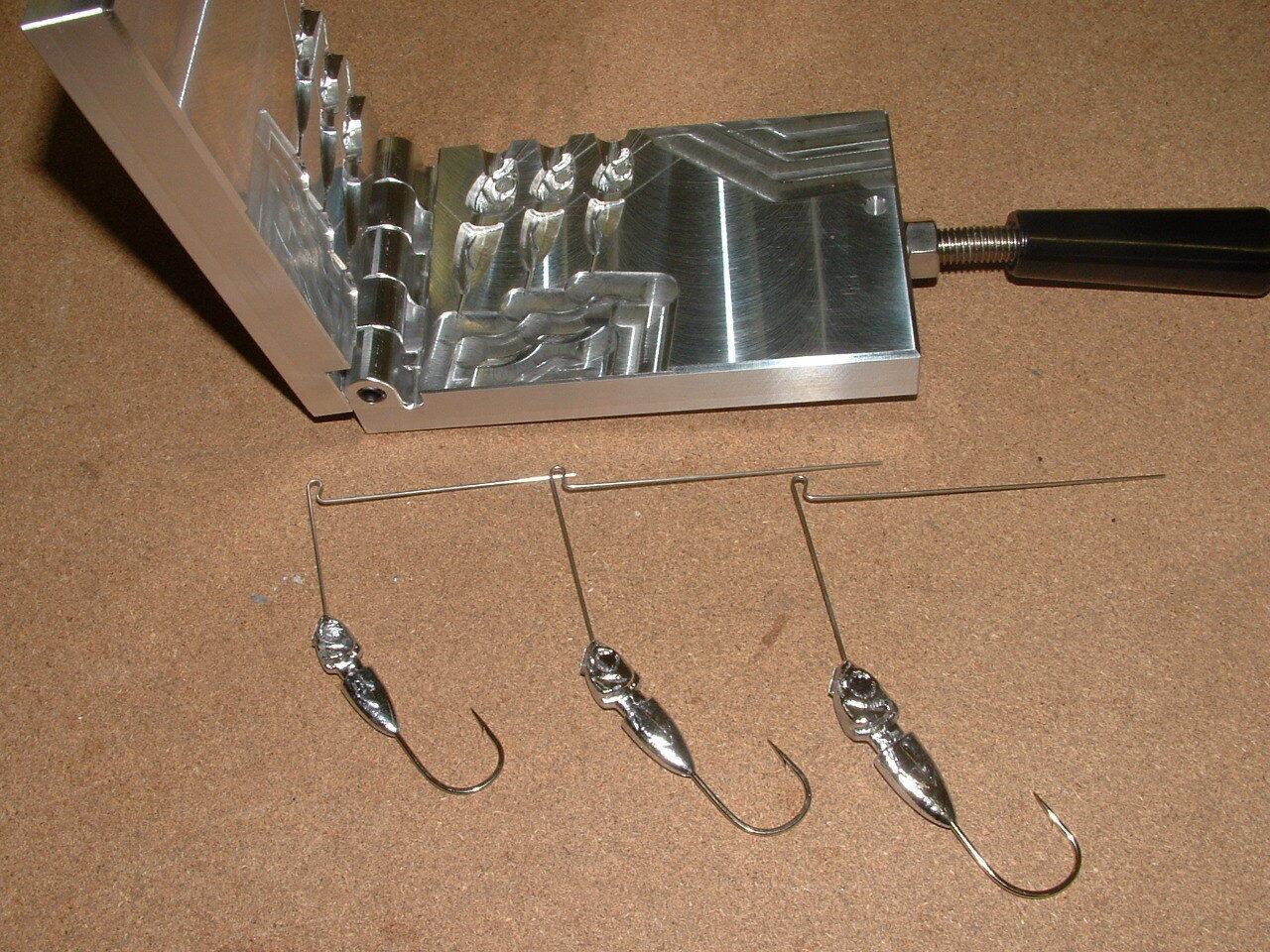 Freshwater Spinnerbait Hidden Weight -4  mold 3 8, 1 2, 3 4 oz CNC Aluminum