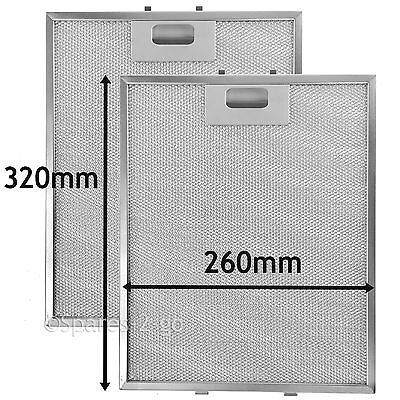 Metal Mesh filter For CANDY Cooker Hood Extractor Vent Fan 320 x 260 mm