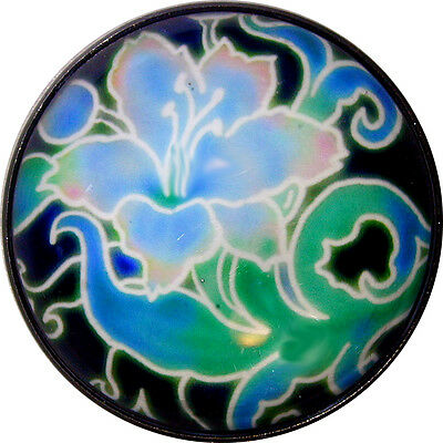 Lg Sz Crystal Dome Button Arts /& Crafts Flower Turquoise /& Pink  Tulip ADF51
