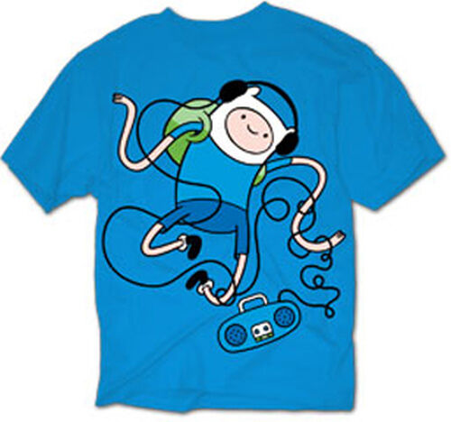 Adventure TIme with FInn and Jake DANCING FINN mens t-shirt tee MEDIUM OR XLARGE