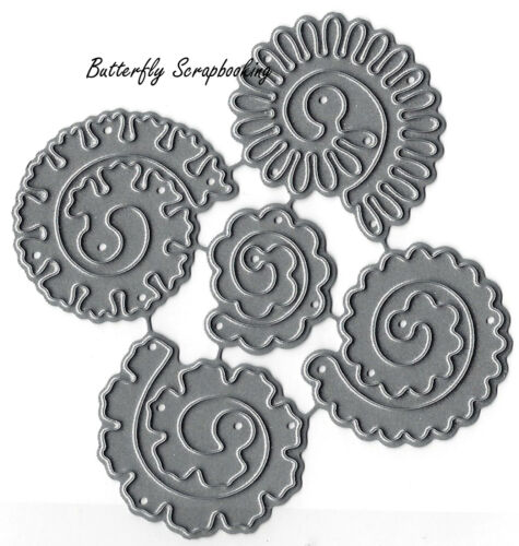 Spiral Flowers Small Die Cutting Dies by Impression Obsession DIE042-I New