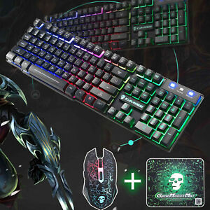Keyboard-Mouse-Set-PC-PS4-PS3-Xbox-One-T6-and-Gaming-Rainbow-Backlit-Mechanical