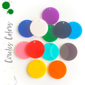 25 acrylic circle blanks with hole 1 8 thick select color size