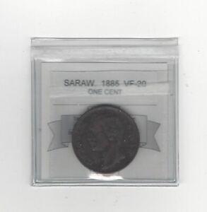 1885-Sarawak-One-Cent-Coin-Mart-Graded-VF-20-KM-6