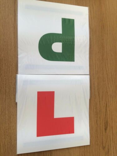 NEW LEARNER DRIVER MAGNETIC 2 OF EACH L AND P CAR SIGN SAFETY PLATES