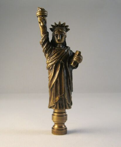 Lamp Finial-STATUE OF LIBERTY-Aged Brass Finish Highly detailed metal cast,FS