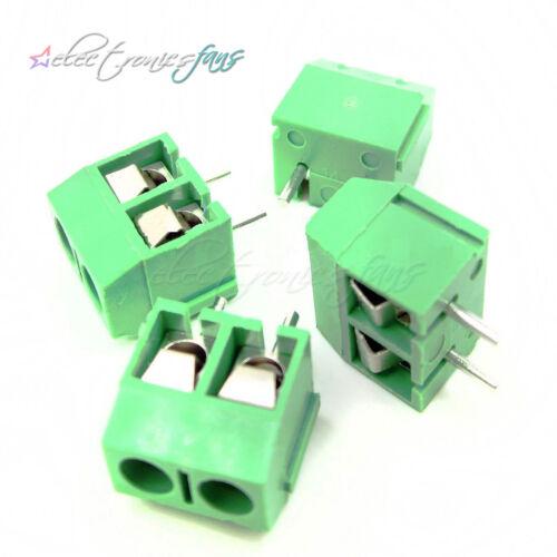 20PCS KF301-2P 2 Pin Plug-in Screw Terminal Block Connector 5.08mm Green J14