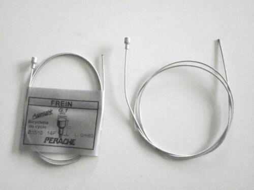 long:0,80m diamètre:15//10mm w50-2 CABLES de FREIN AV VELO CYCLOMOTEUR VINTAGE