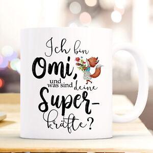 Treu Tasse Becher Kaffeebecher Omi Deine Superkräfte & Fuchs Motto Geschenk Ts853 Hochglanzpoliert Geschenk- & Werbeartikel